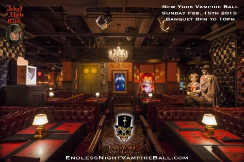 Dining area for the New York Vampire Ball 2015